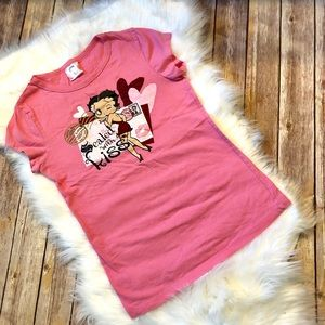 XS Betty Boop T-Shirt in pink